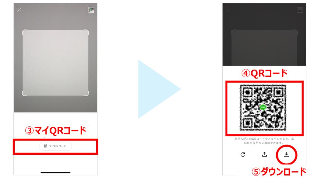 LINEのQRコード表示方法2