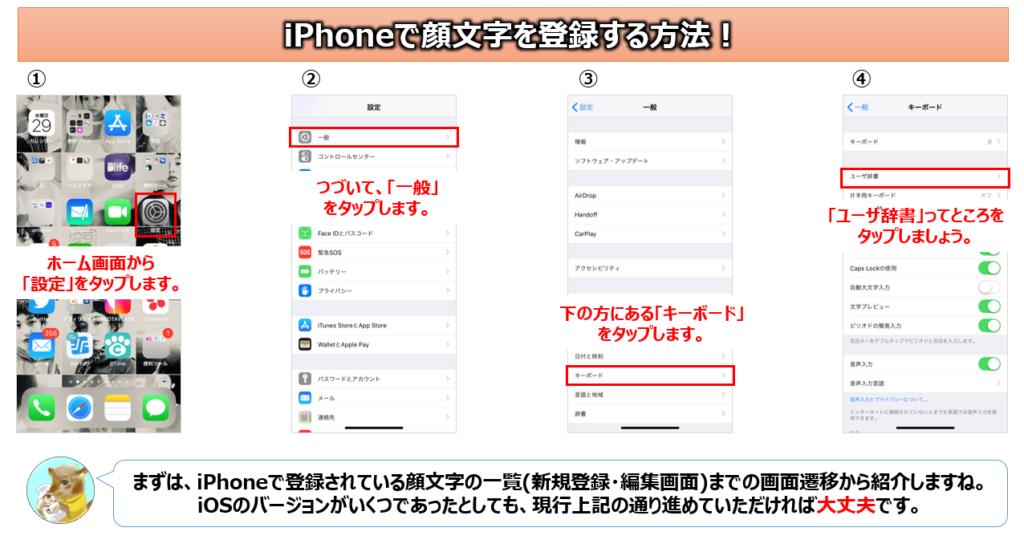 iPhone顔文字登録