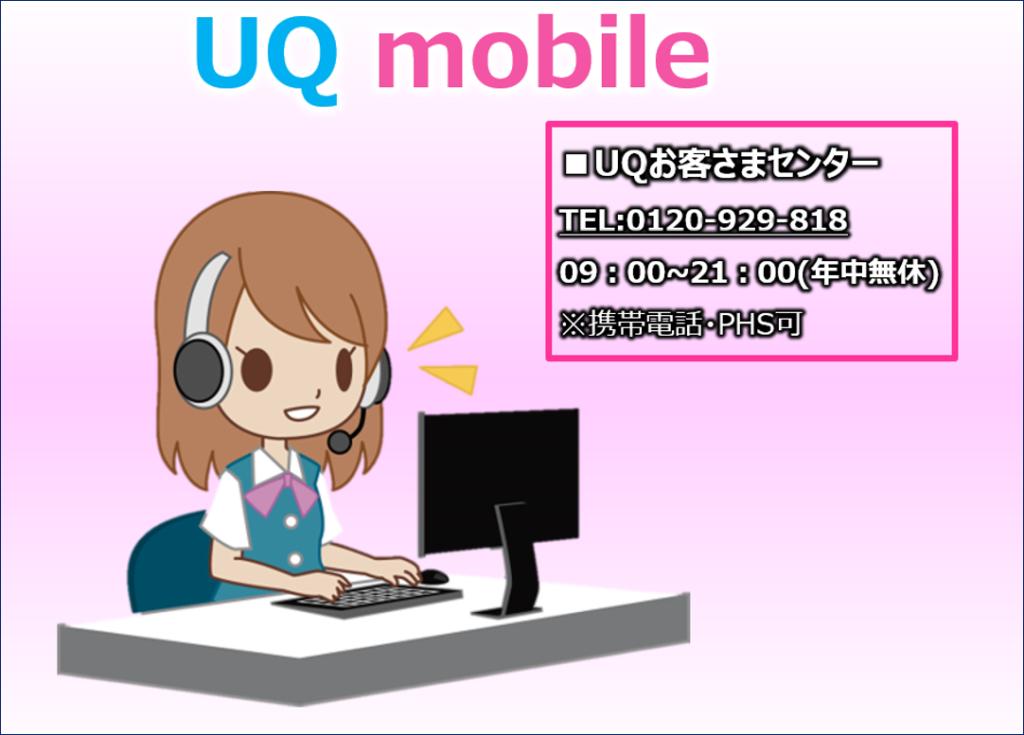 UQお客さまセンターの電話番号