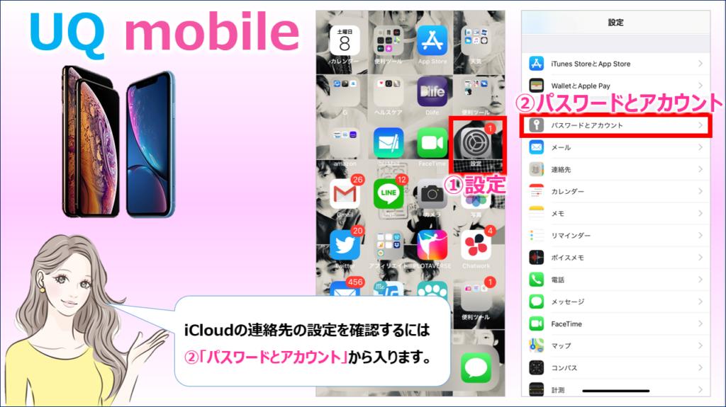 iCloud設定